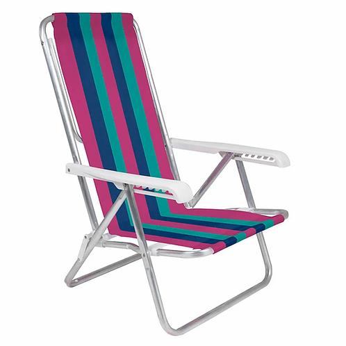 Cadeira Reclinável Alumínio 8 POSIÇÃO