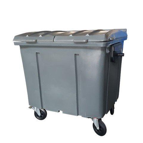 Container de lixo 1000 Litros com tampa Bipartida