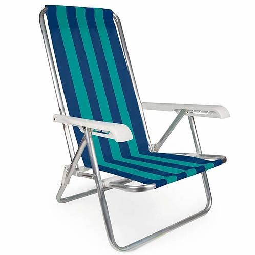 Cadeira Reclinável Alumínio 4 POSIÇÃO
