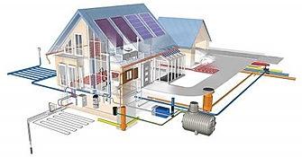Yeşil Bina Isı Pompası Toprak Kaynaklı Güneş Enerjili