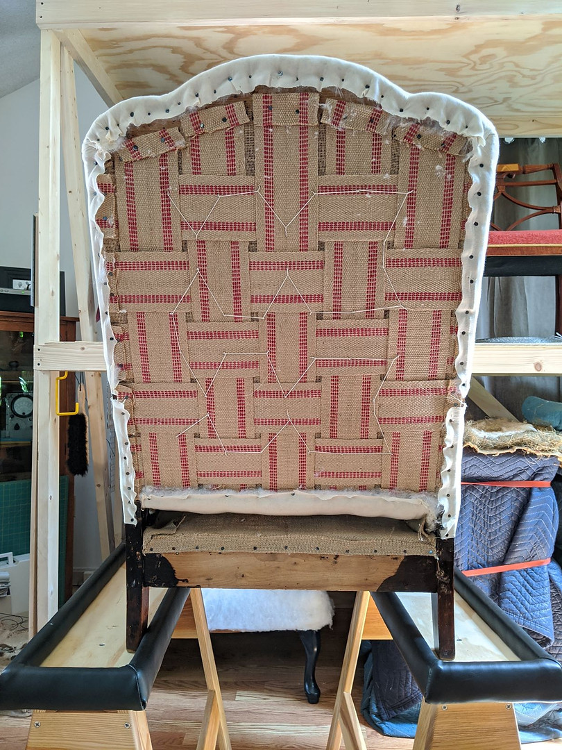 Chair Back: Webbing and Spring Stitching