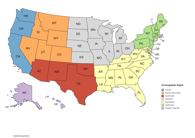 US Region Map