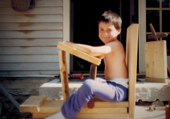 Young Boy Furniture Build