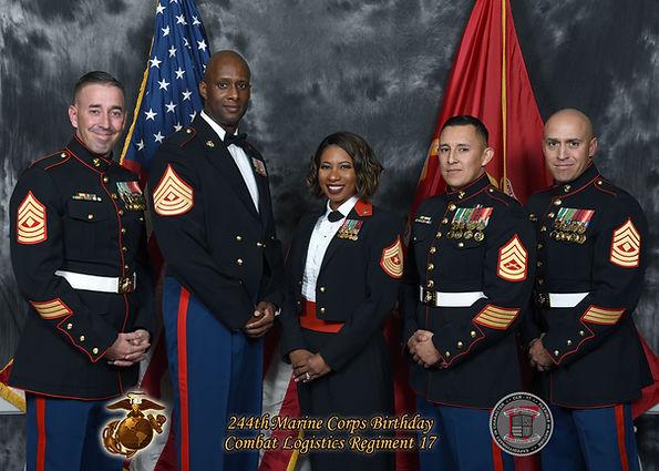 Group marine corps ball photo