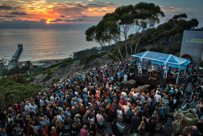 Sunset concert at Birch Aquarium at Scripps