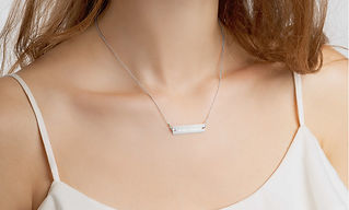 engraved-silver-bar-chain-necklace-white