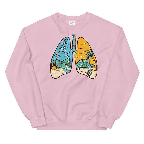 lungs unisex sweatshirt