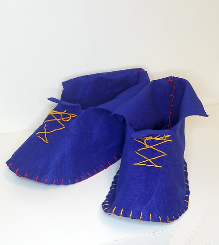 Hand Sewn Slippers Project & Instructions