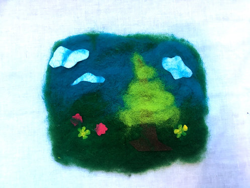 Felted Landscape Project & Instructions