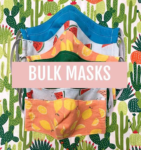 Bulk Mask Orders (Packs of ten)