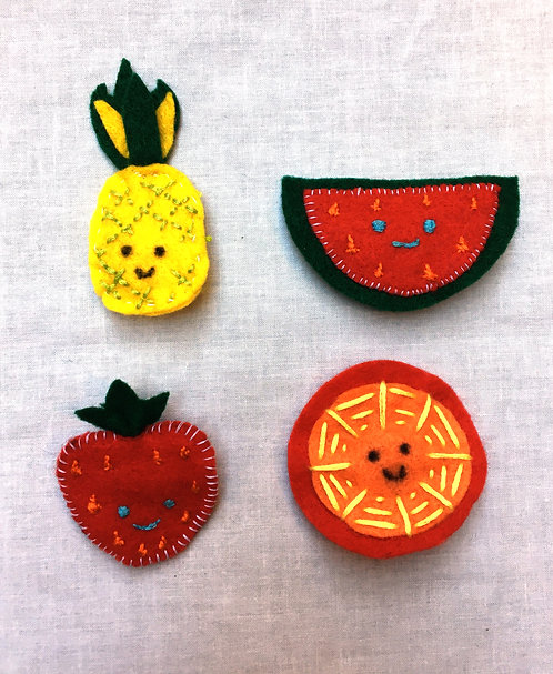 Fruit Brooch Project & Instructions