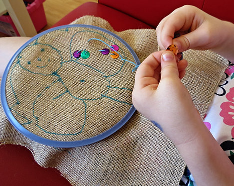 Burlap Embroidery Project & Instructions