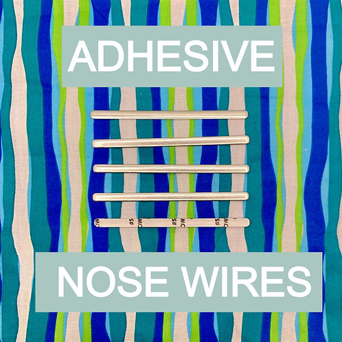 Aluminum Adhesive Nose Wires, pack of 5