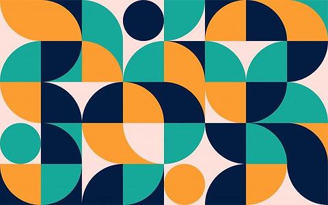 geometric-minimalistic-color-composition