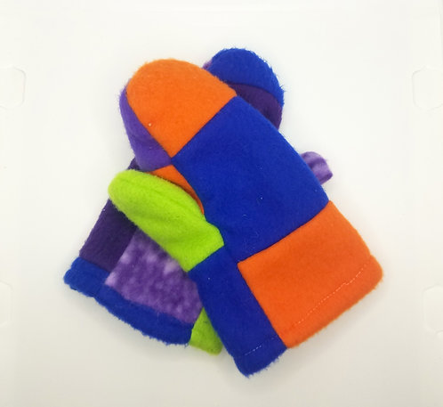 Patchwork Mittens Project & Instructions