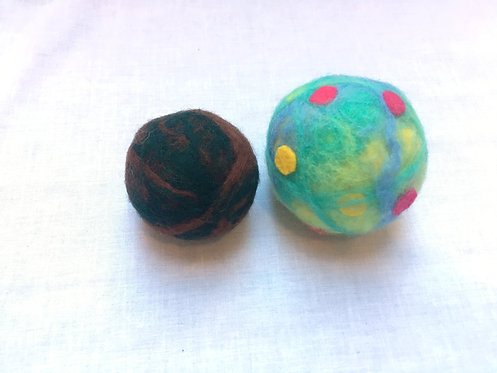 Felted Dryer Balls & Instructions