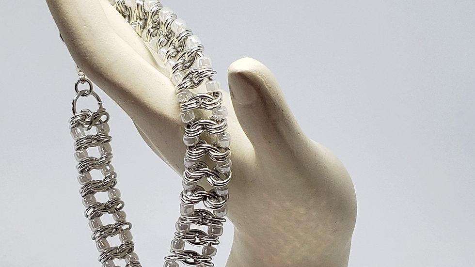 White Millipede Bracelet