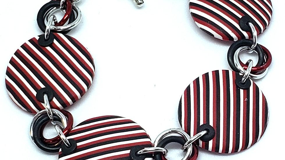 Striped Disc Bracelet