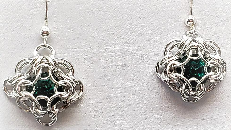 Emerald Labrynth Earrings