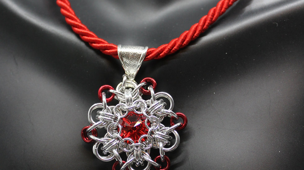 Red Snowflake Pendant