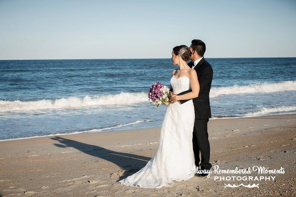 Private moments on the beach before the reception