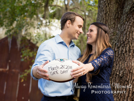 Football Themed Engagement Session