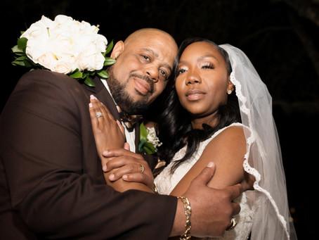 Janita and Byron 's Crystal Ballroom St Augustine Florida Wedding.