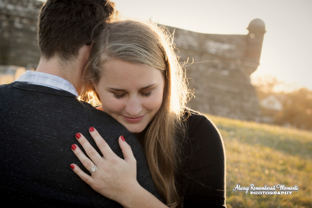 Always Remembered Moments Photography-Engagement-St Augustine-Fort-engagement session-Marianne Boyds