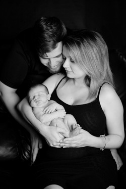 Always Remembered Moments Photography, Newborn Family Session, Black & White Images, Jacksonville, S