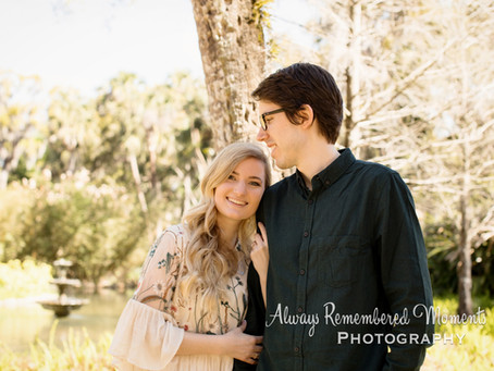 Washington Oaks Gardens State Park Engagement Session With Christine & Zach