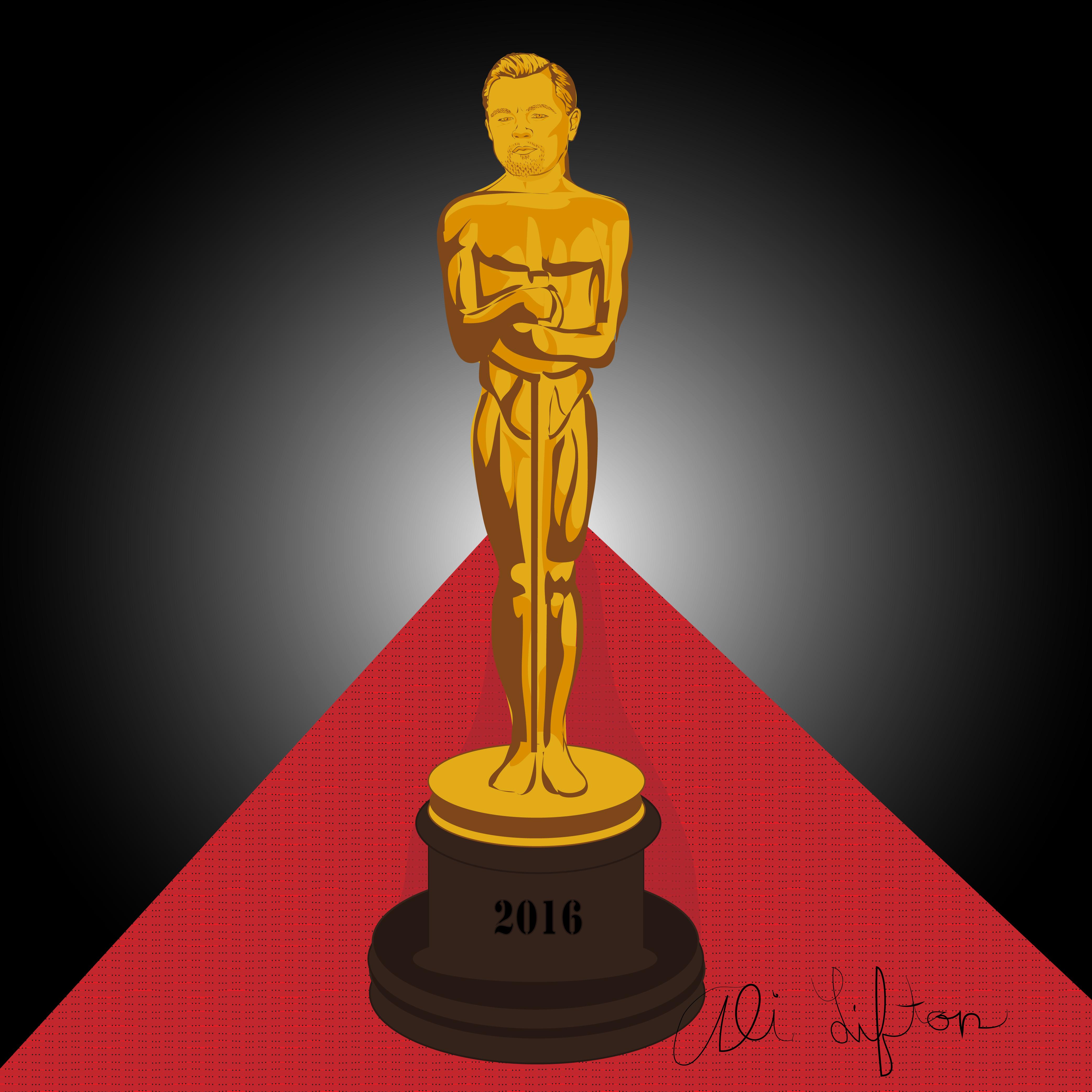 Leonardo Dicaprio as an Oscar