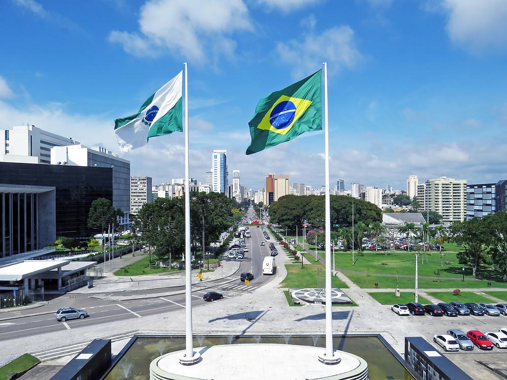 CURITIBA: Vista da cidade a partir do Palácio Iguaçu. (Crédito: Clóvis Pedrini Jr.)