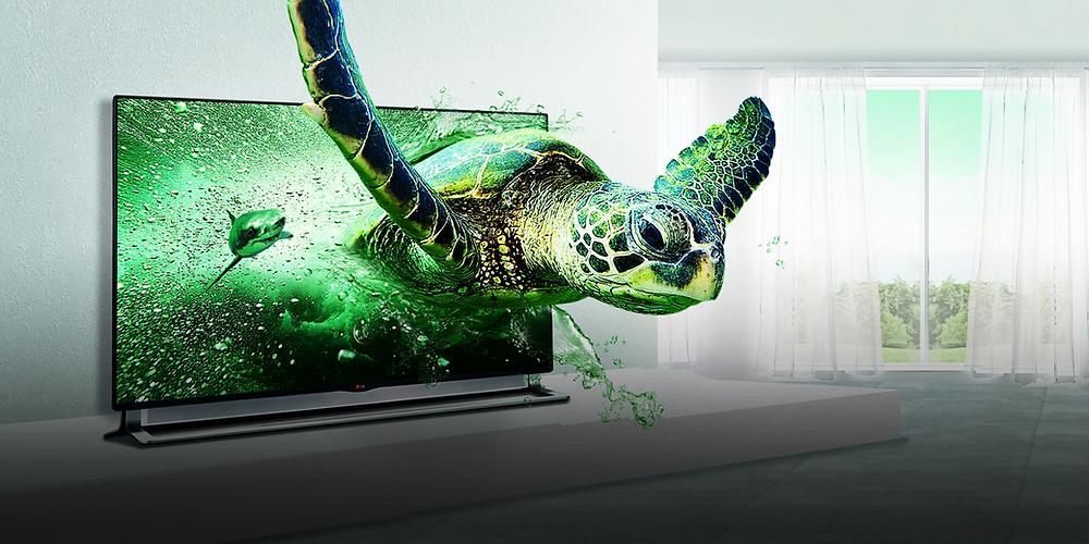 Ao contrário das tartarugas, televisores com tecnologia 3D tiveram vida curta: menos de 9 anos. (Crédito: LG divulgação)