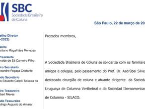 Nota de Falecimento - Prof. Dr. Asdrúbal Silveri