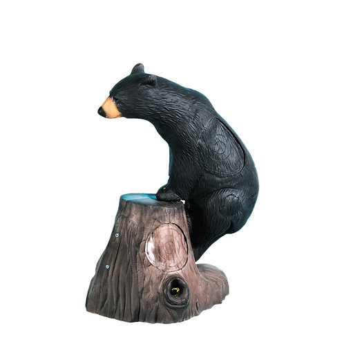 HONEY BEAR WITH STUMP