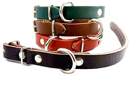PERSONALISED LITTLES dog leather collar