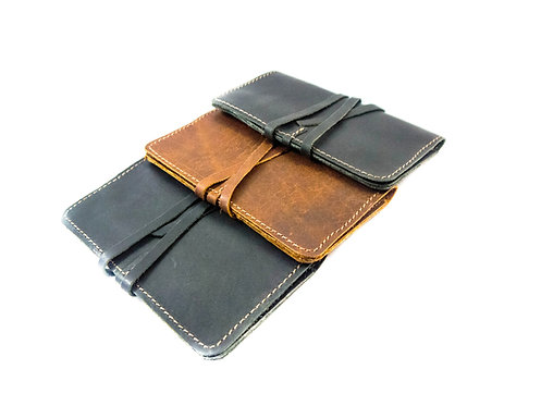 WRAPPED UP leather  tobacco pouch ( new style)