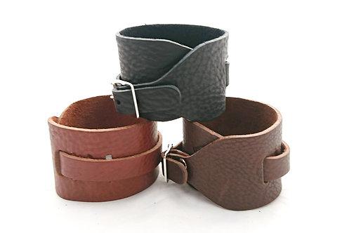 Single Buckle closure Leather Bracelet