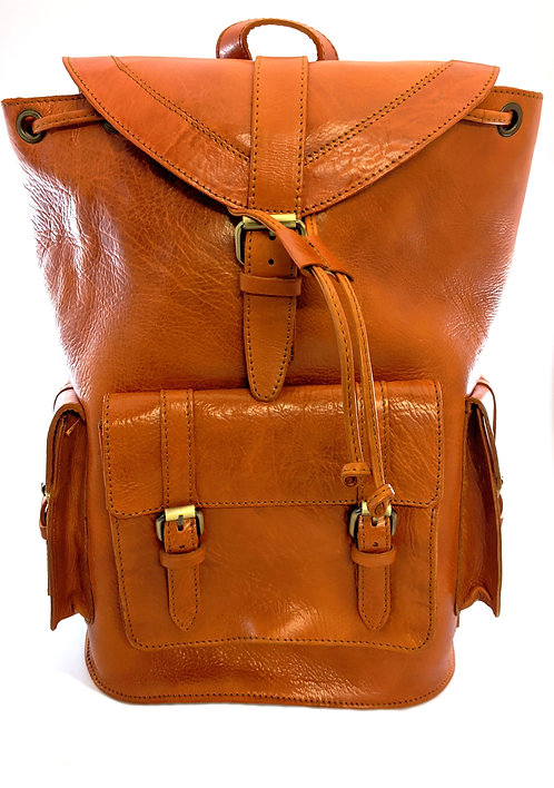Large spacious outdoor leather Backpack