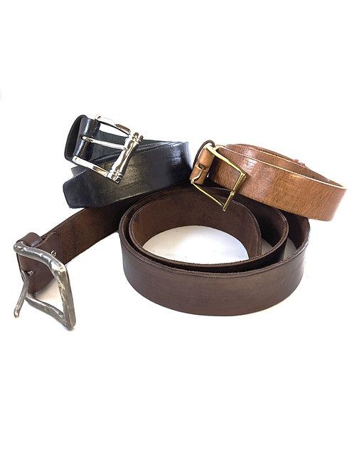 "Brass / Silver Military Roller Buckle Salsa leather belt 1"" 1.5"" 2"""