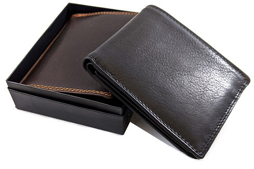 Top quality Multi slots trifold RFID secure Leather wallet