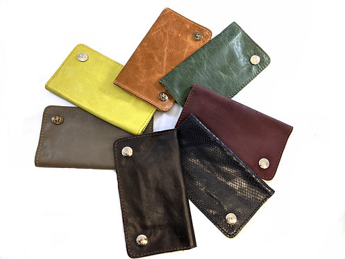 Soft  leather cut hand rolling Tobacco Pouch ,7 nice  Colours