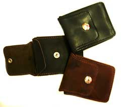 SMALL HUNTER LEATHER COINS HOLDER WALLET
