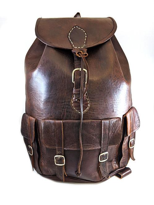 Grand Real leather Backpack / Rucksack biker bag