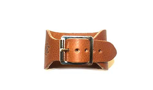 Women's Leather Wristband with Buckle Fastening