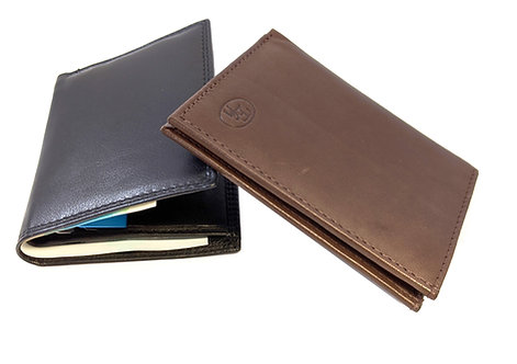 super slim lightweight bifold leather card holder