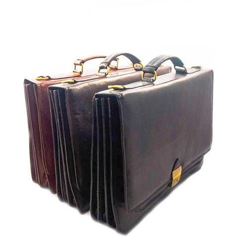 EXECUTIVE ATTACHE CASE leather briefcase with mult