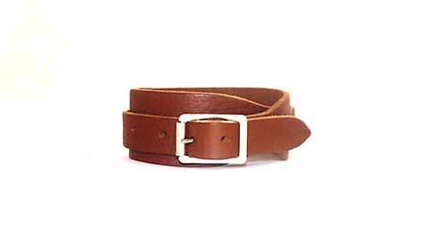 Leather Wristband with one buckle