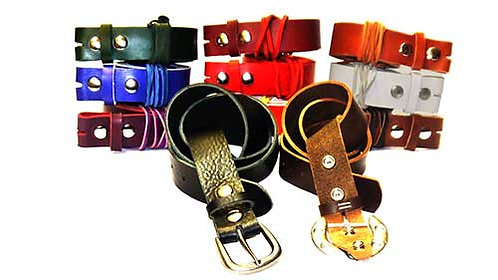 Leather Belt Straps handmade with Italian Leather