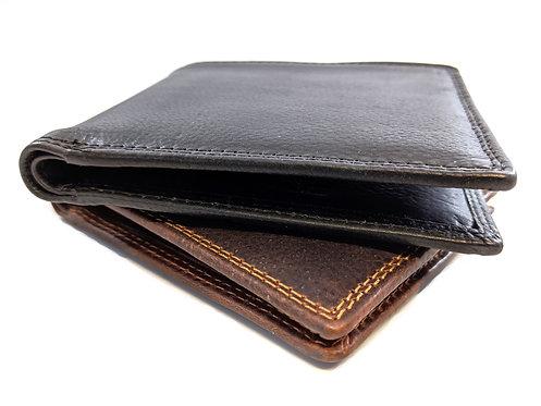 Top quality bifold slim design RFID Leather wallet